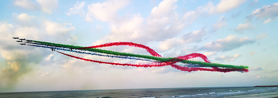Luftakrobatik in Ras Al Khaimah