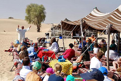 Gottesdienst bei der Kameluschi