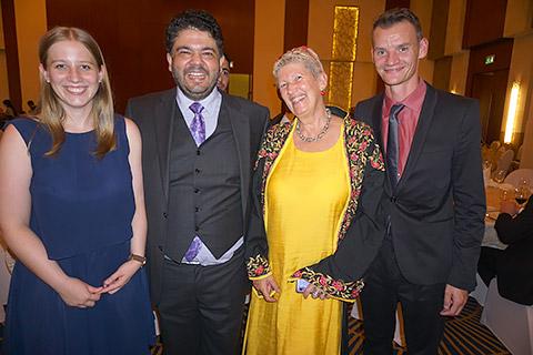 Lydia, Mayur, Uschi und Björn