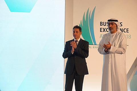 Sheikh Ahmed bin Saqr Al Qasimi mit Ramy Jallad