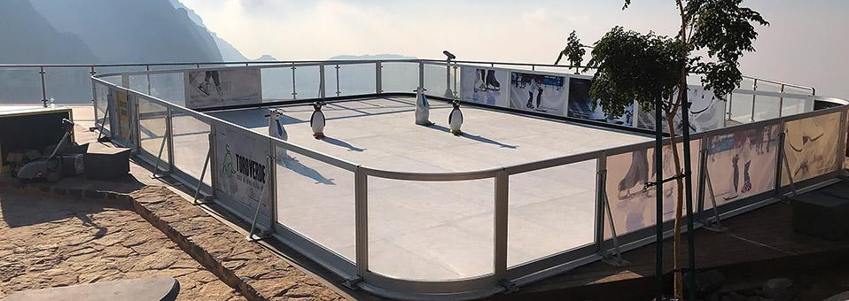 Eislaufen auf dem Jebel Jais