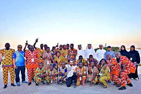 Mannschaft aus Uganda mit Betreuern
