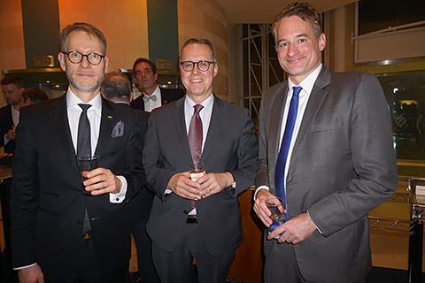 Staatssekretär Stegmann, Botschafter Fischer und Felix Neugart