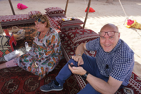Entspannung im Zelt