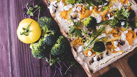 Garden Vegetables und Feta