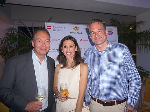 Sigrid de Mazieres mit Florian Pötsch und Felix Neugart