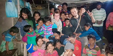 Kinder im Slum
