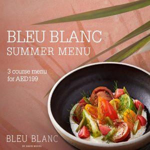 Sommermenu Bleu Blanc