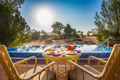 Frühstück in der Villa
