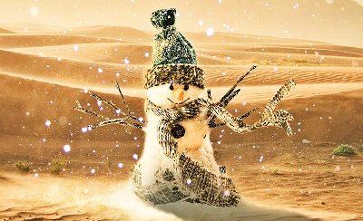 Weihnachten und Jahresende 2019 in der Wüste