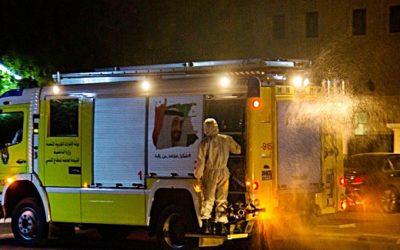 Desinfektionsaktion auch  in Ras Al Khaimah