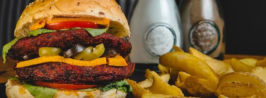Vegane und vegetarische Burger