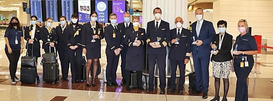 Die Lufthansa in Dubai feiert Geburtstag